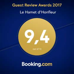 Fabuleux 9,4 sur booking.com 2017
