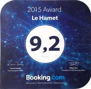 Prix Excellence sur booking.com 2016